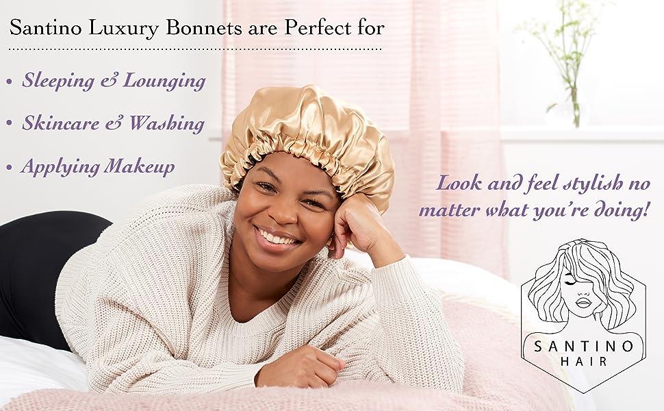 Multifunctional Satin Bonnets