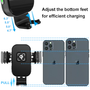 car phone mount wireless charger