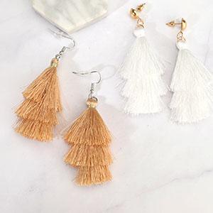 Colorful Layered Tassel Earrings Bohemian Dangle Drop Earrings for Birthday Christmas Gift