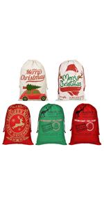 5Pcs Santa sacks