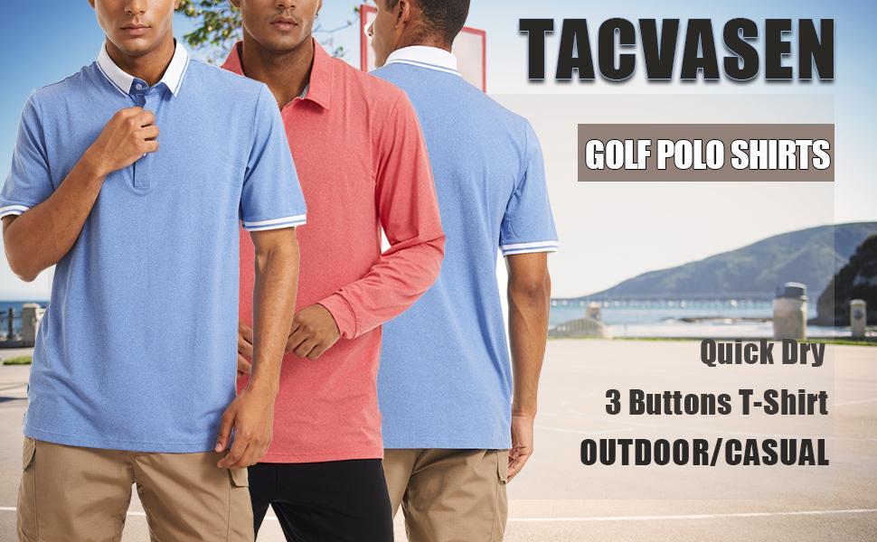 Men's Polo Long and Short Sleeve Golf Polo Quick
