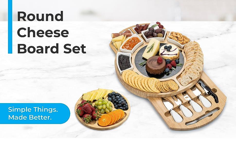Round Cheese Board Set