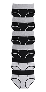 black cotton panties for women briefs pack