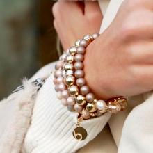 bracelet pearls sterling silver