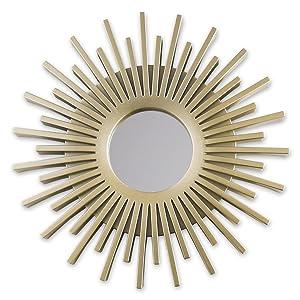 Speglar med champagne. Väggdekor. Cirkelformade speglar