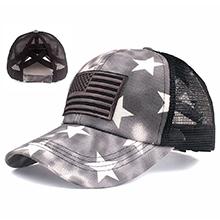 black star mesh hat