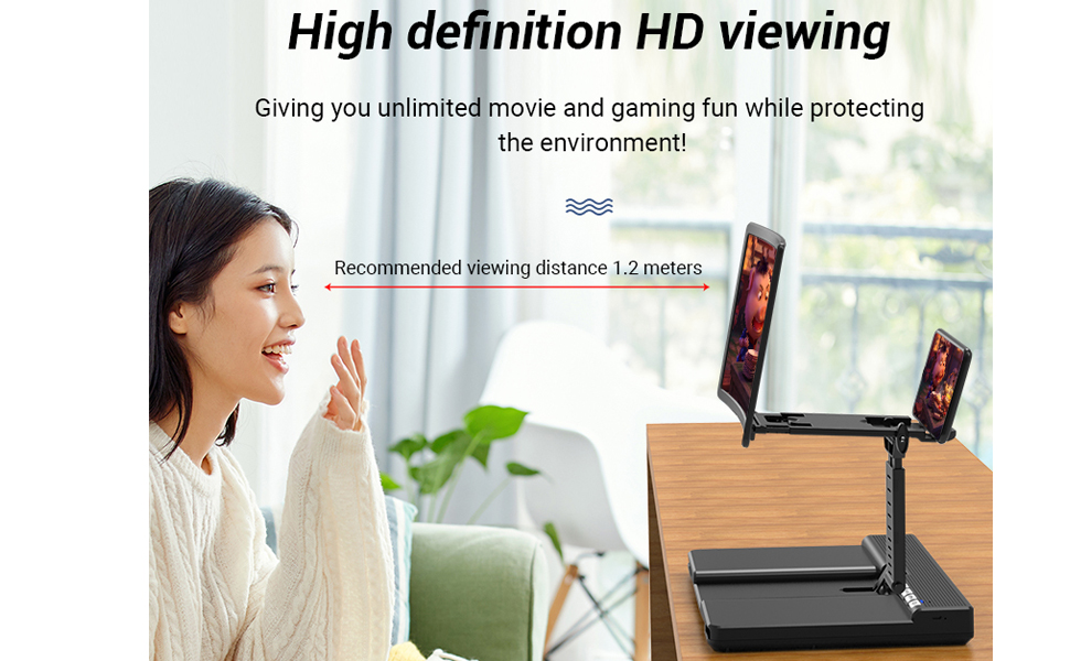Chase the drama on the big screen from a long distance, enjoy the big screen and protect your eyes
