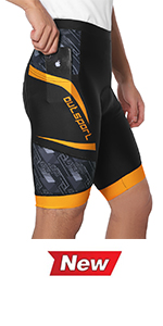 Yellow cycling shorts