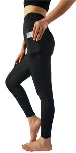 black yoga pants for women with pockets,workout leggings for women with pockets