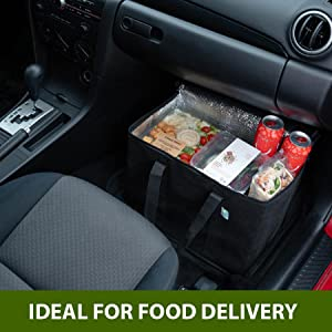 VENO Insulated food delivery bag, food transport bag, keep food hot and cold, large capacity