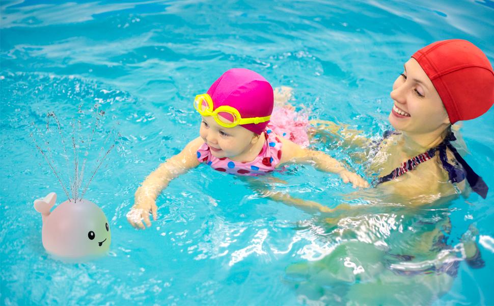 Swimming pool spray toy