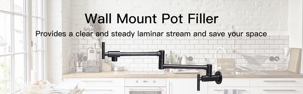 wall mount pot filler