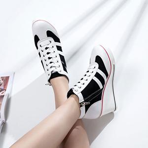 High Heel Wedge Sneakers