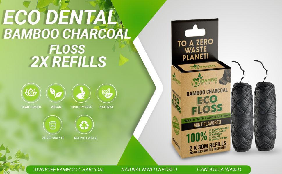Bamboo Charcoal Vegan Floss