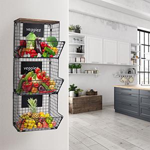 hanging baskets for kitchen
