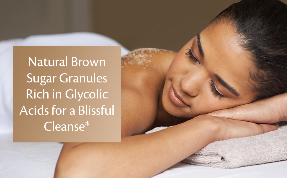 natural brown sugar granules glycolic acid blissful cleanse