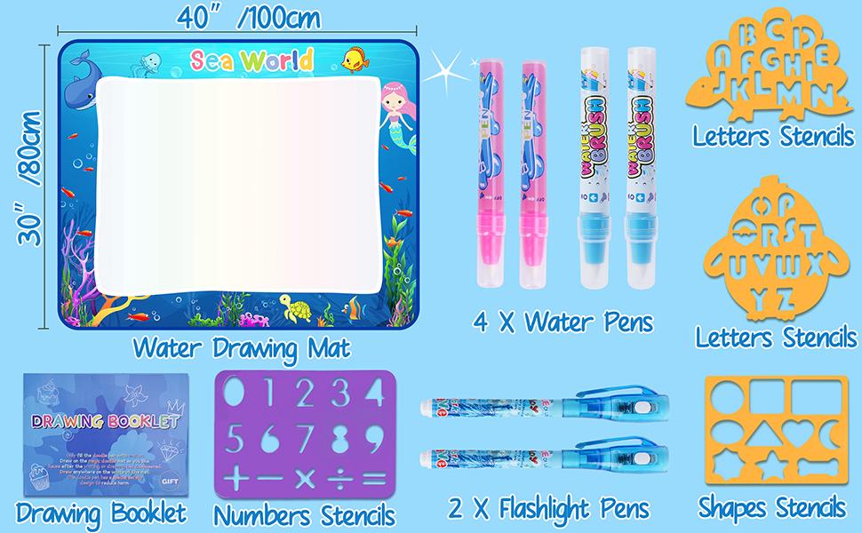 CHEERFUN water doodle mat glows in the dark - accessories