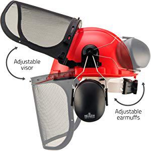 goggles helment protector sheild wood faceshield husquavarna kevlar mounted protectors replacement
