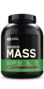 serious mass high protein gainer powder optimum nutrition gold standard