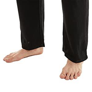 Loose trouser legs