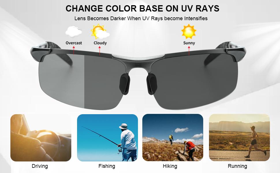 polarized photochromic sunglasses