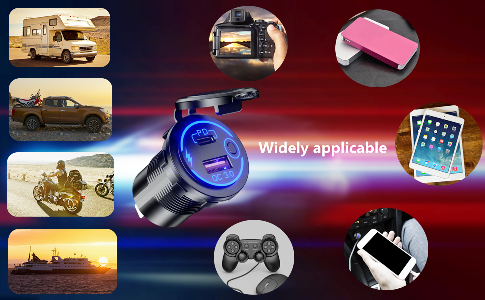 12v usb outlet widely applicable