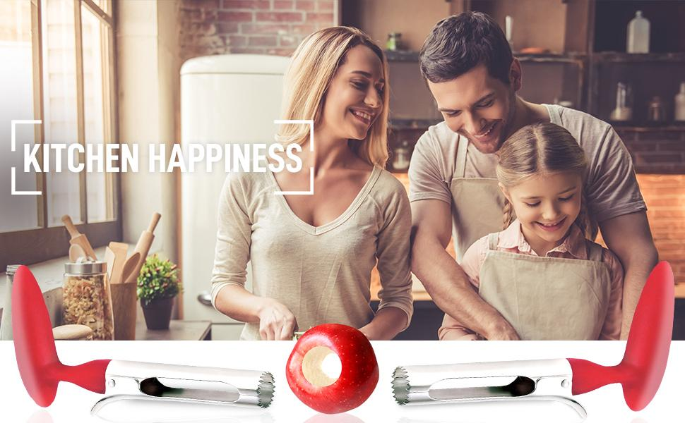 zulay kitchen happiness apple corer ergonomic gadget home tool granny smith apples decoring
