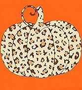 Halloween Pumpkin Shirt Women Leopard Graphic Top Funny Loose Long Sleeve Fall Shirt