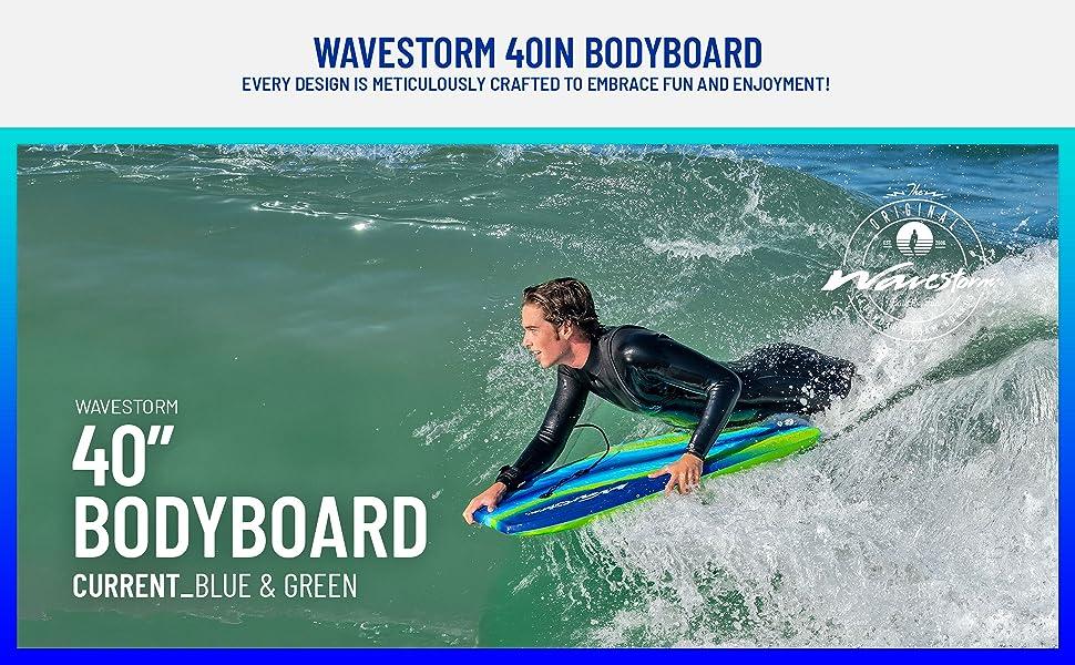 Wavestorm 40in CCBB Bodyboard 2-pack - Current (Green) - Surf