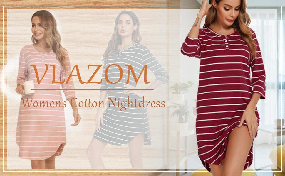 Vlazom Women's Nightdresses