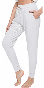 women jogger bamboo viscose pajamas pants soft sleepwear long loungewear running bottoms