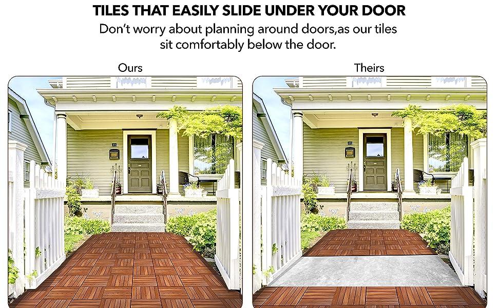 tiles that easily slide under your door