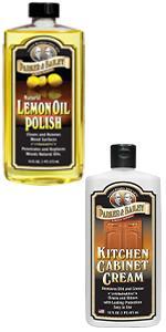 Lemon Oil and Kitchen Cabinet Cream Bundle