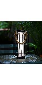 Black Metal Solar Lantern