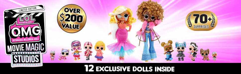 OMG Movie Magic Studios Ad - 12 exclusive dolls, 70+ surprises