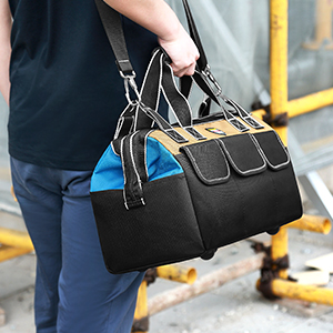 Portable Tool Bag with 5 Multiple Exterior Pockets, Tool Storage and Organizer