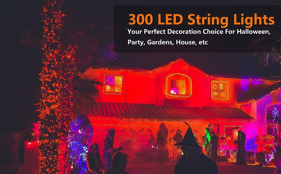 300 LED Orange lights
