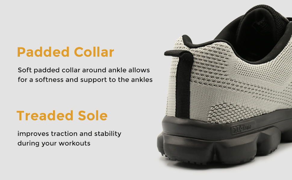Padded Collar and Treaded Sole