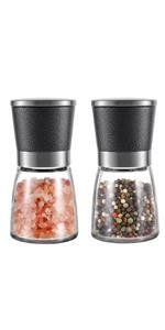 silver salt and pepper grinder mill set