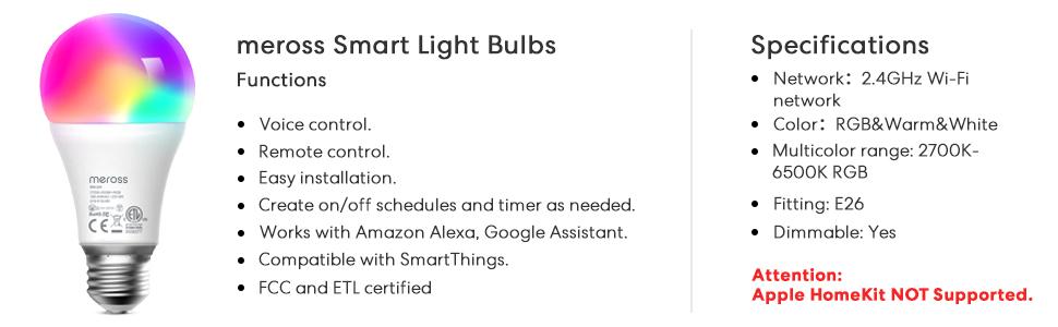 meross Smart Light Bulbs