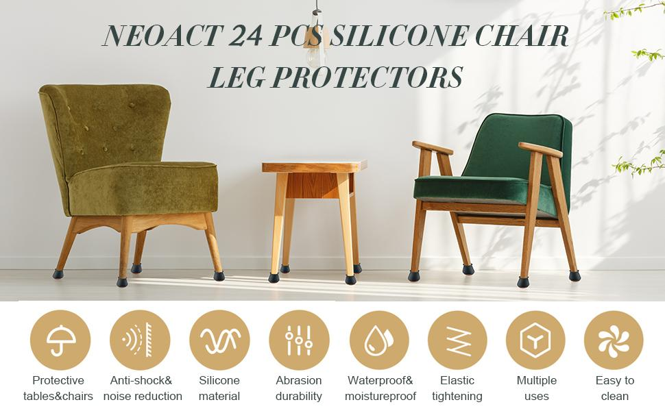 Furniture Pads Smooth Moving for Chair Feet NEOACT Silicone ...