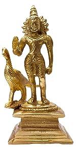 brass kartikey statue religious god idols