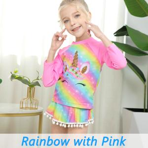 little kids girls unicorn rash guards rashguard swimsuit swimwear