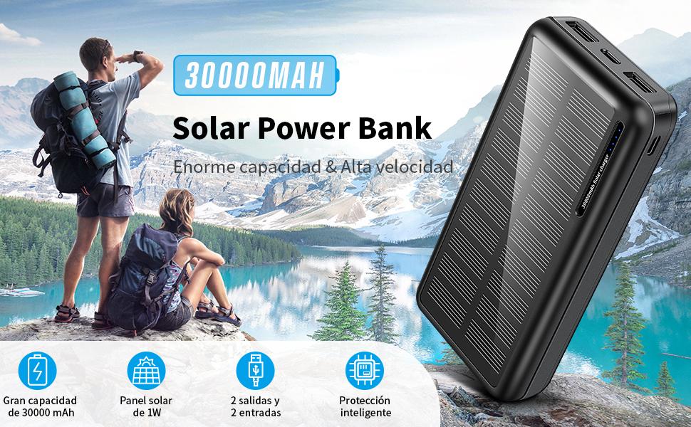 Power Bank Solar 30000mAh