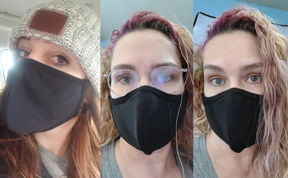 face protection with adjustment ear loops
