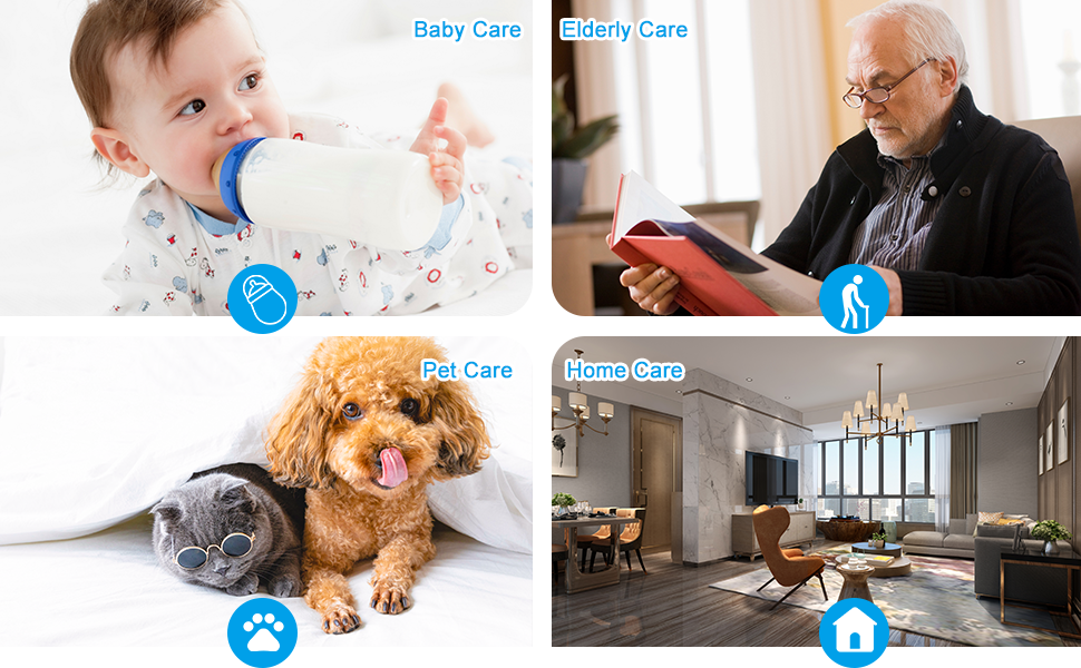 EVERSECU 2.4GHZ and 5Ghz Dual Band wifi wireless motion tracking baby pet edlerly security camera