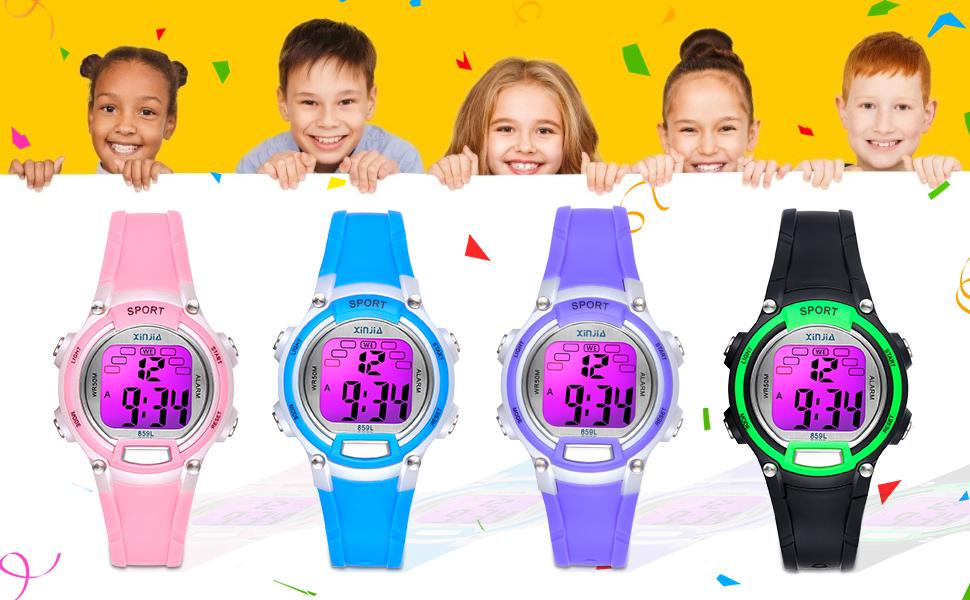 7 Color Kids Watch