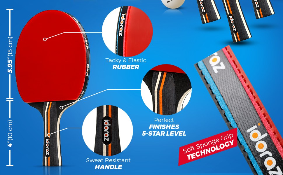 ping pong paddles set of 4 table tennis racquets ping pong rackets