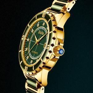 blue gem crown of wrist watch