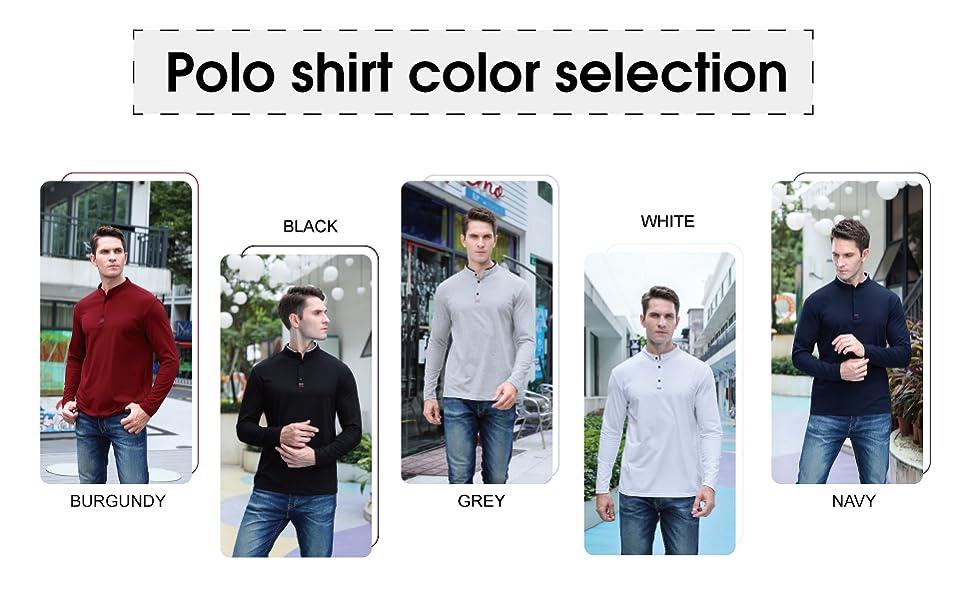 Polo Shirt Color Selection